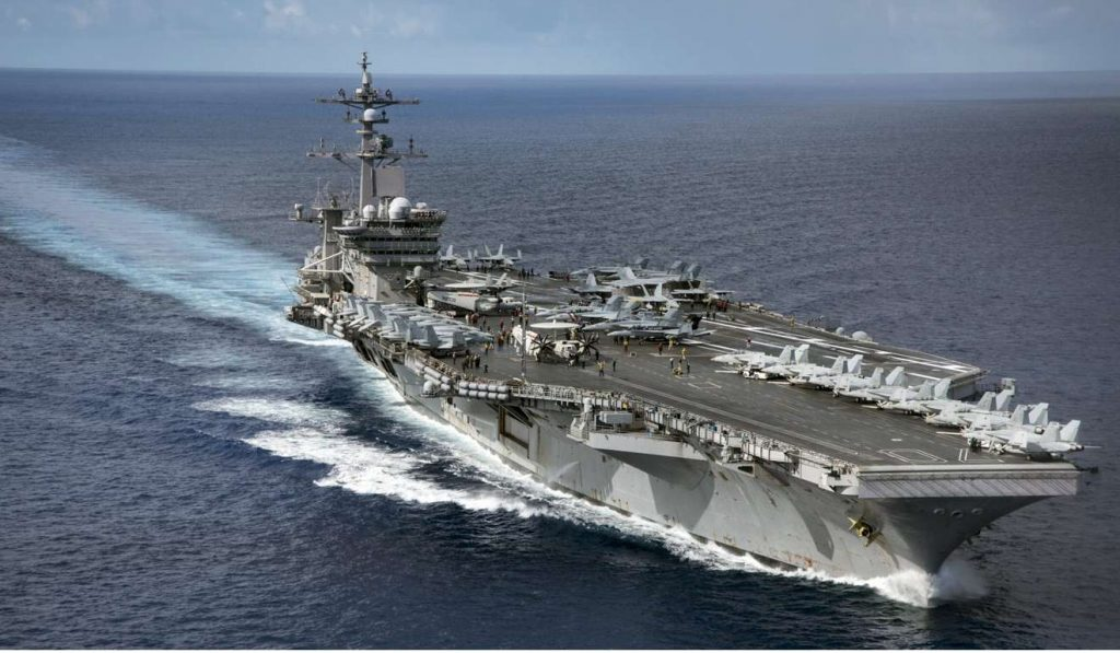 The 100,000-tonne Nimitz-class aircraft carrier USS Carl Vinson can carry about 90 fixed-wing aircraft and helicopters. The US has 10 such carriers in operation. Photo: EPA