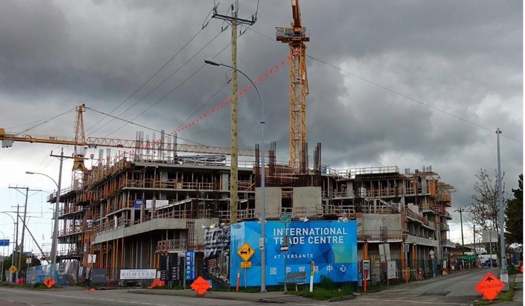 A general view of Chinese corruption suspect Michael Ching Mo Yeung's International Trade Centre project in Richmond, British Columbia. The SCMP draws no conclusions about the guilt or innocence of Ching. Photo: Ian Young