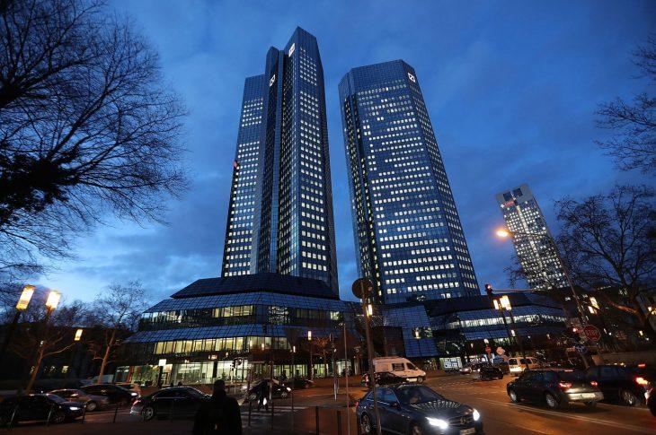 The Deutsche Bank headquarters in Frankfurt. Photographer: Krisztian Bocsi/Bloomberg