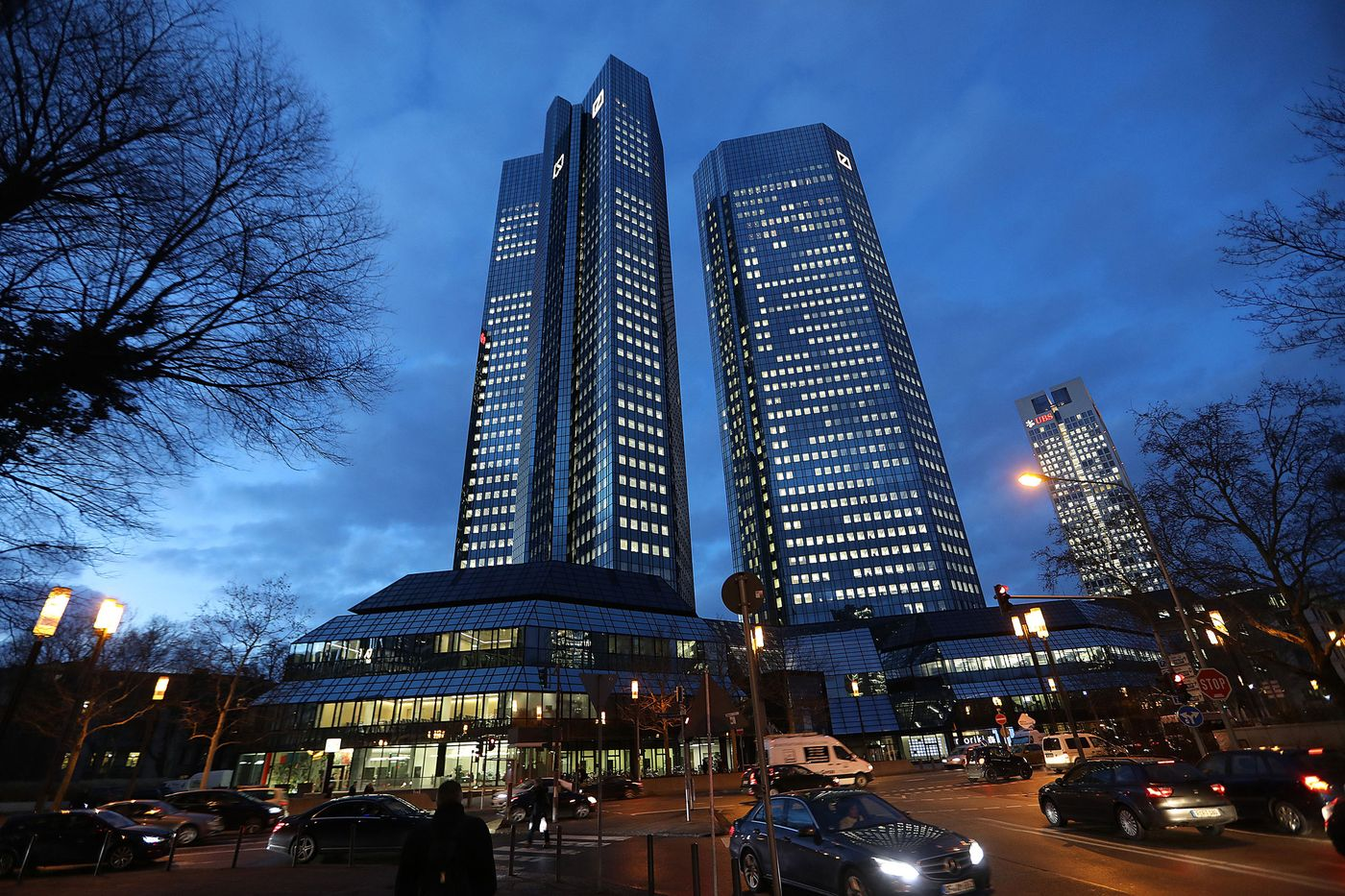 The Deutsche Bank headquarters in Frankfurt. Photographer: Krisztian Bocsi/Bloomberg
